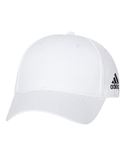 White Custom Adidas - Core Performance Max Cap