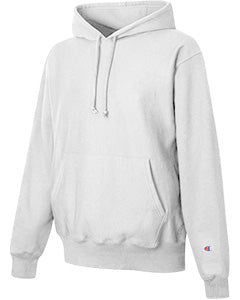 White Custom Champion Heavyweight Hooded Sweatshirt