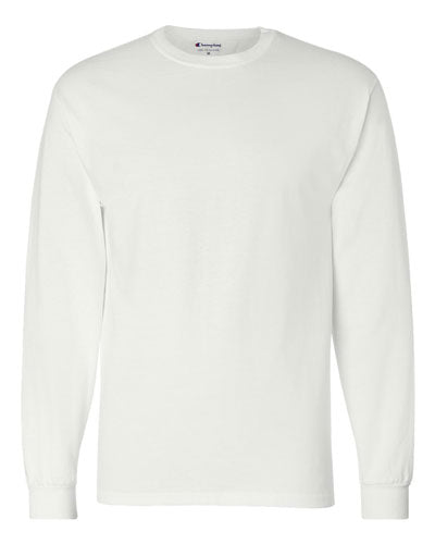 White Custom Champion Long Sleeve T- Shirt