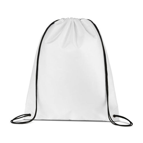 White Custom Drawstring Backpack
