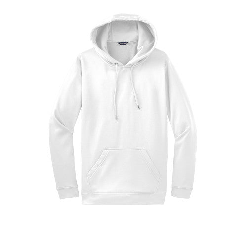 White Custom Dry Performance Hoodie Sweatshirt