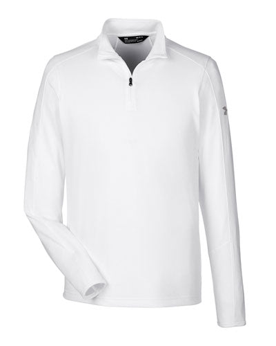 White/ Graphite Custom Under Armour Men's UA Tech™ Quarter-Zip