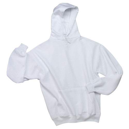 White Custom Jerzees Hooded Sweatshirt
