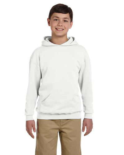 White Custom Jerzees Youth Hooded Sweatshirt