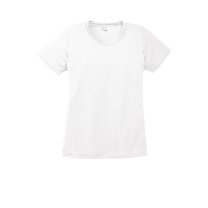 White Custom Ladies Dry Performance T-Shirt