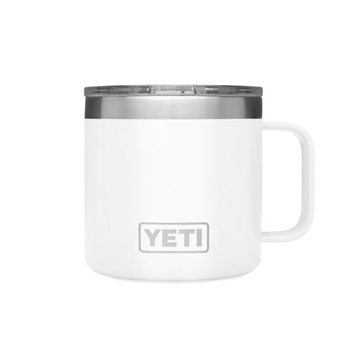 White Custom YETI 14 oz Rambler Mug