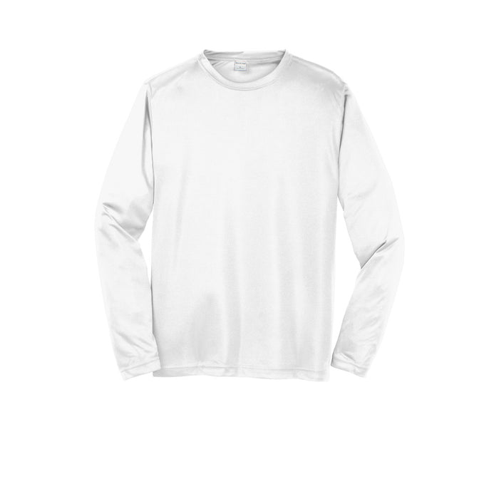 White Custom Long Sleeve Dry Performance T-Shirt