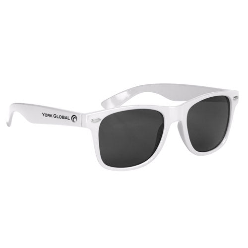 White Custom Malibu Sunglasses