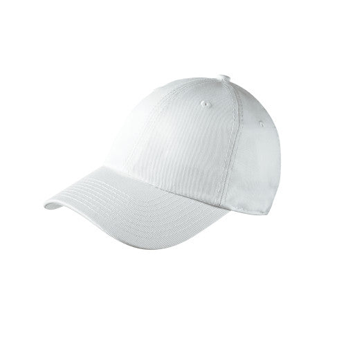 White Custom New Era Adjustable Unstructured Cap