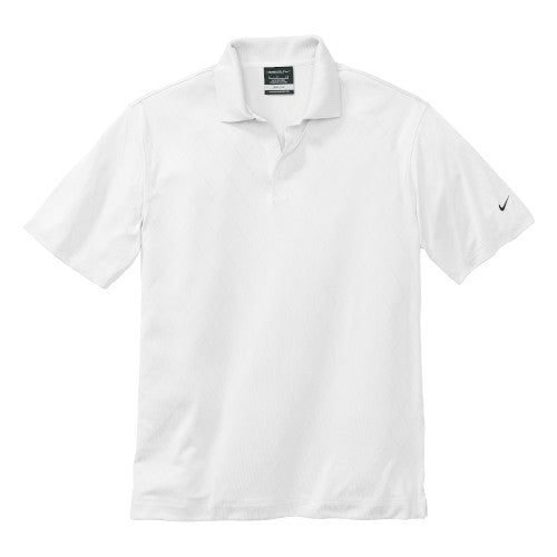 White Nike Dri-FIT Cross Over Shirt With Logo