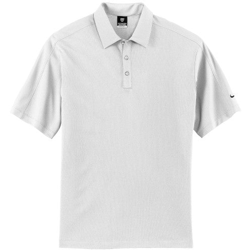 White Nike Tech Dri-FIT Polo With Logo