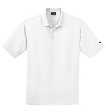 White Nike Tall Dri-FIT Micro Pique Polo With Logo