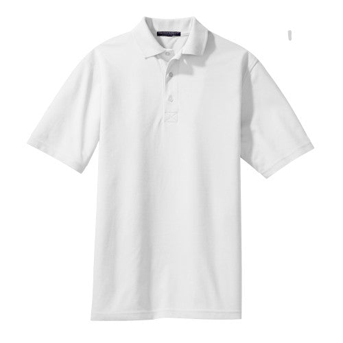White Rapid Dry Polo With Logo