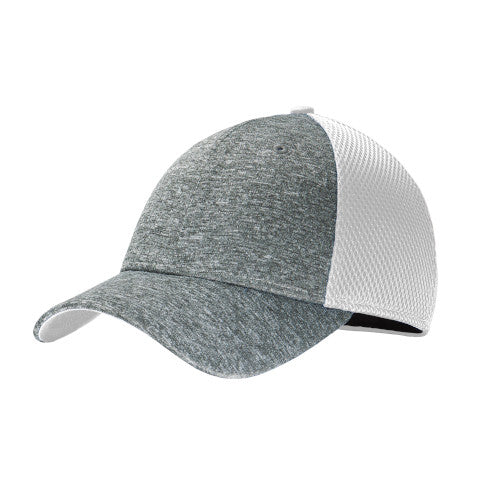 White/ Shadow Heather Custom New Era Shadow Stretch Mesh Cap