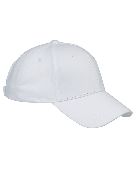 White Custom Structured Embroidered Hat