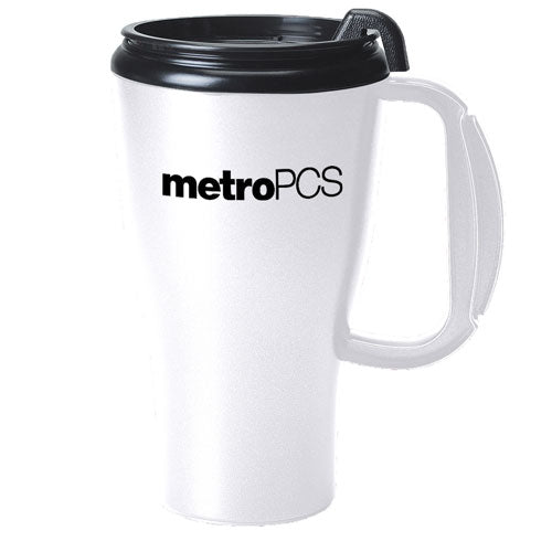 White Custom Travel Mug 16oz