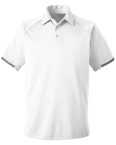 White Custom Under Armour Rival Polo