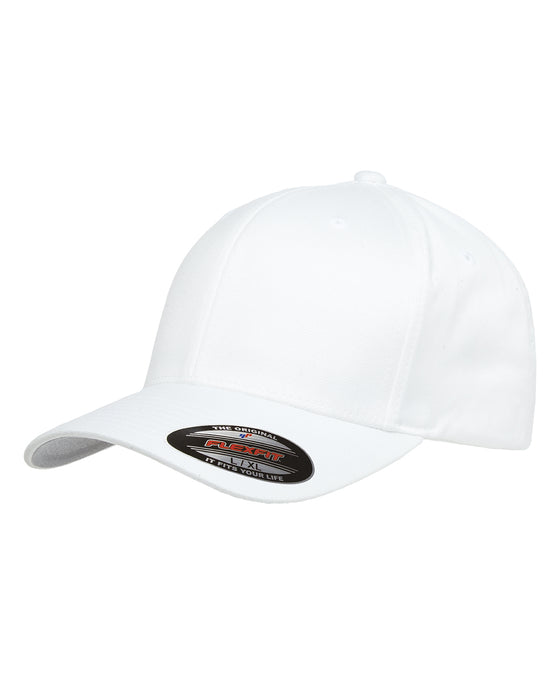 White Custom Yupoong Flexfit Cap Hat