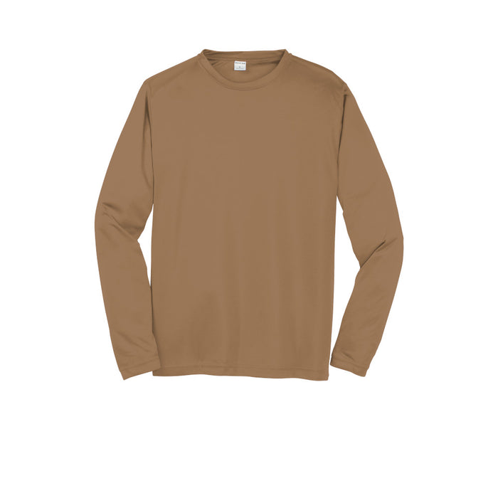Woodland Brown Custom Long Sleeve Dry Performance T-Shirt