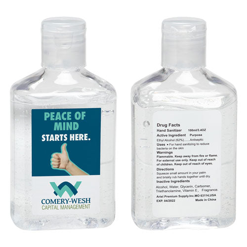 Custom 3.4 oz Hand Sanitizer with Vitamin E