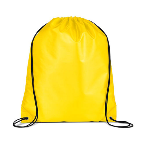 Yellow Custom Drawstring Backpack