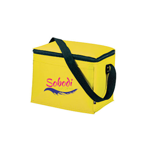 Yellow Custom 6 Pack Cooler Bag