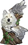 Load image into Gallery viewer, Tree Ceramic Bisque Wolf