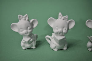 Three Little Mice Ready to Paint