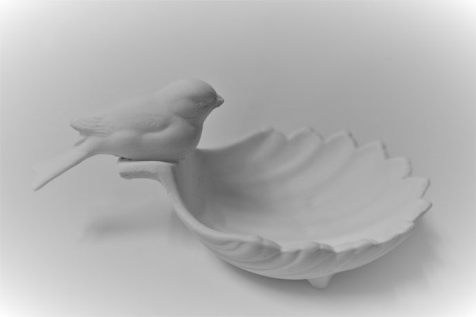 Bird on Shell Ready to Paint