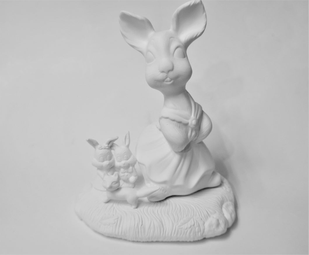 Bunny with Friends Ready to Paint