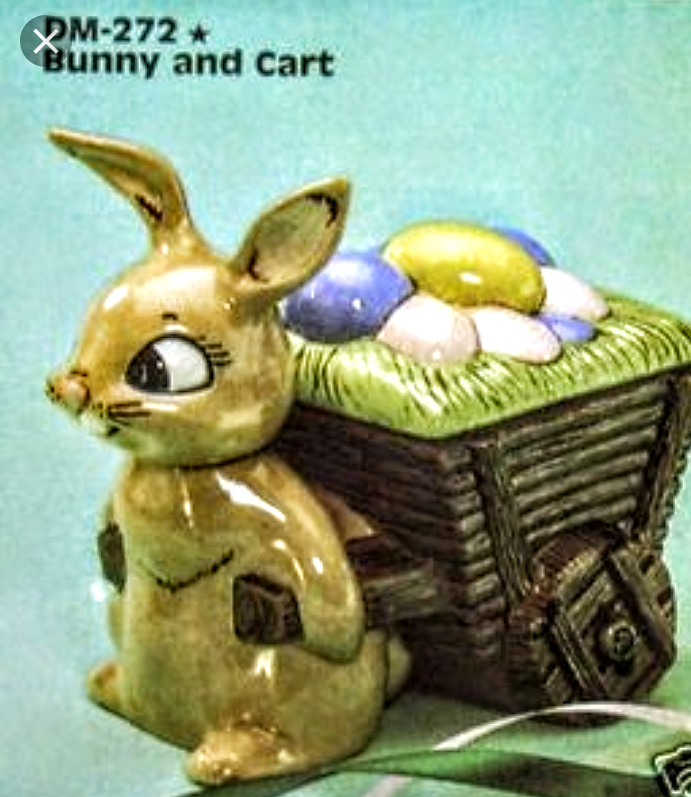 Ready To Paint Bunny with Cart