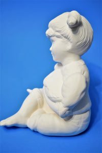Ceramic Girl with Goose Ready to Paint