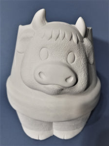 Cow Planter Ready to Paint