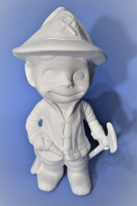 Ready to Paint Smiley Firefighter