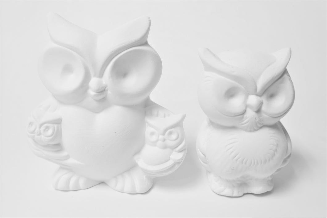 Family of three Owls
