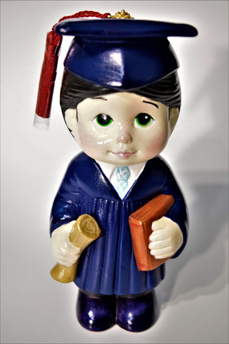 Ceramic Painted Graduated Boy