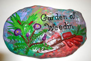 Hand Painted Ceramic Stepping Stones,Garden decoration ,Hand Painted Ceramic Stepping Stone.Garden Wall Art.Olga's Treasures Shop
