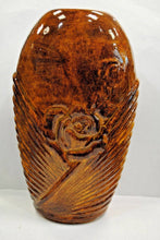 Load image into Gallery viewer, Golden Brown Ceramic Vase.Handmade Ceramic Vase.Olga's Treasures Shop