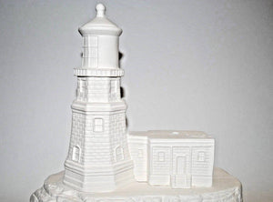 Lighthouse Lamp Base Ceramic Bisque.Lighthouse Ceramic Bisque.Ready-To-Paint Ceramic.Paint-your-Own.Olgas Treasures Shop