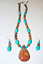 Load image into Gallery viewer, Autumn Jasper and Turquoise Magnesite.