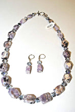 Load image into Gallery viewer, Chevron  Amethyst Nuggets Necklace