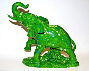 Elephant.Ceramic Elephant.Green Elephant.Elephant Home Decor.Elephant Statue.Elephant Figurine.Olgas Treasures Shop