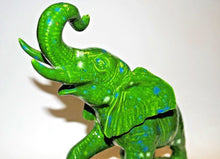 Load image into Gallery viewer, Elephant.Ceramic Elephant.Green Elephant.Elephant Home Decor.Elephant Statue.Elephant Figurine.Olgas Treasures Shop