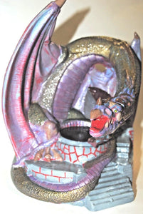 Dragon.Ceramic Dragon.Dragon candle Holder.Hand Painted Ceramic Dragon.Olga's Treasures Shop