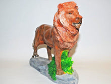 Load image into Gallery viewer, Handmade Ceramic Lion.Hand Painted Ceramic Lion.Lion Statue.Lion Figurine