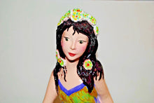 Load image into Gallery viewer, Garden Statue Girl.Handmade Ceramic Garden Decor.Patio Girl Statue