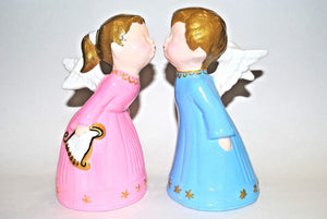 Little Angels Kissing Figurines. Angels kissing Statue.Ceramic Angels kissing.Olga's Treasures shop