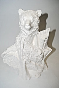 Ceramic Bisque Bear.Large Bear.Doc Holliday large Bear.Ready-To-Paint Large Bear.Olga's Treasures Shop