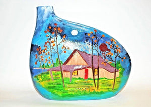 Hand Painted Ceramic Vase.Unique Ceramic Vase.Handmade Ceramic Vase.Olga's Treasures Shop