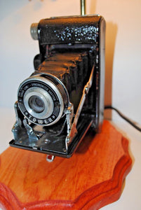Vintage Photo Camera Table Lamp.Handmade Photo Camera Table Lamp.Vintage Photo Camera.Olga's Treasures Shop